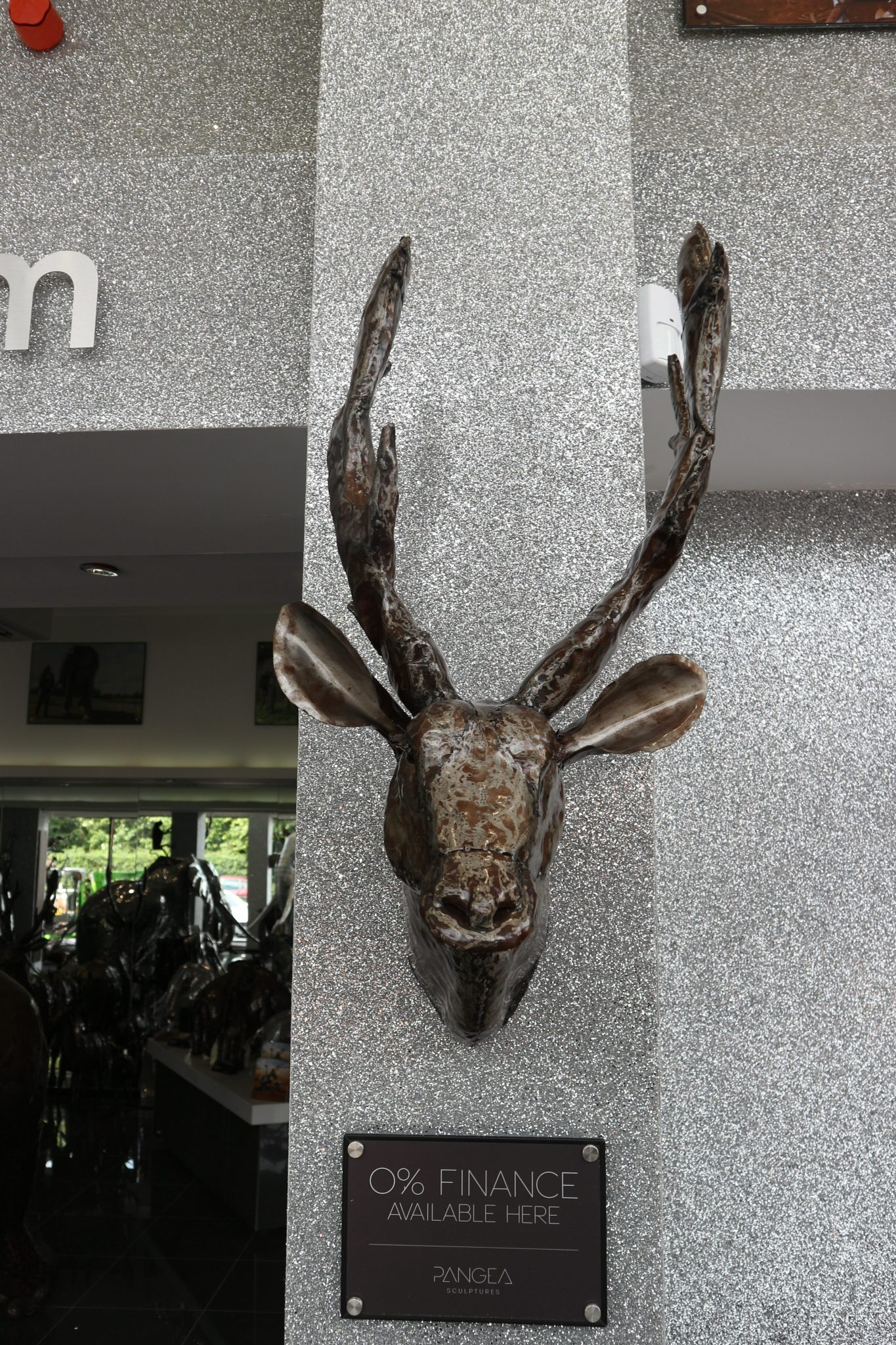 Stag Head Wall Mount Beautifully Handmade Metal Stag Head