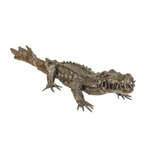 crocodile alligator baby sculpture