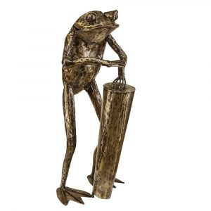 frog bongos small sculpture