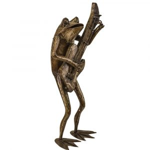 frog guitar large sculpture