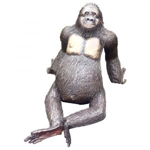 Gorilla Sitting LIFE SIZE 4FT NAT