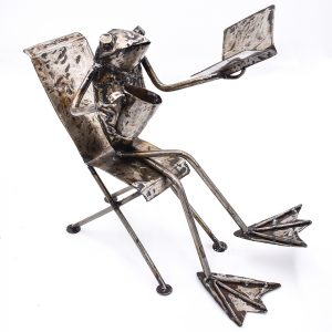 Frog in a chair